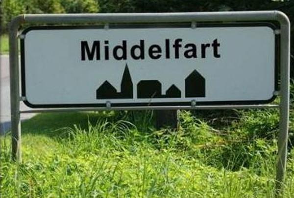 Ortsschild Middelfart
